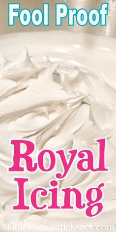 Proof Royal Icing Recipe - A Little Knick a Little Knack Easy fool proof royal icing perfect for your holiday sugar cookies.Easy fool proof royal icing perfect for your holiday sugar cookies. Best Sugar Cookie Recipe, Best Sugar Cookies, Easy Cookie Recipes, Frosting For Sugar Cookies, Sugar Cookie Icing Easy, Christmas Sugar Cookie Icing Recipe, Cake Icing Recipe Powdered Sugar, Sugar Cookie Icing Recipe That Hardens, Royal Icing For Cookies