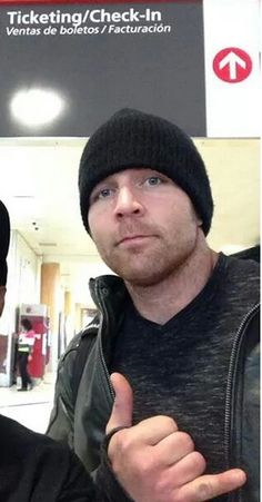 Dean ambrose is rocking out in his hoodie and beanie and do it in dean ambrose styles sherri loves it
