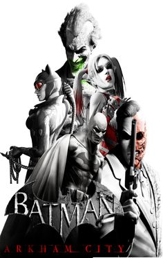 "fan made poster fo the 2 game in the arkham trillogy ""arkham city"" Batman Arkham city poster. Batman Games, Batman Comic Art, I Am Batman, Batman Robin, Batman Artwork, Batman Arkham City, Batman Arkham Series, Gotham City, Harley Quinn"