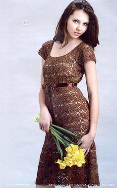 Uncinetto d'oro: Elegante abito di pizzo!   Free pattern