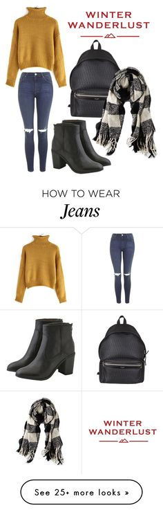 """Winter Wanderlust with American Eagle: Contest Entry"" by horvat-rea on Polyvore featuring Topshop, American Eagle Outfitters, Yves Saint Laurent and aeostyle"
