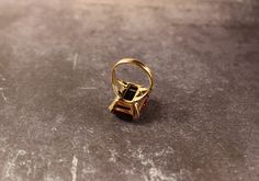 """Avon Fashion  Accents In Jewelry """"Burgundy Wine"""" Gold Tone Ring - Vintage 1979 by FrogTears on Etsy"""