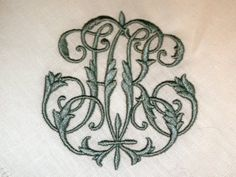 Antique monogram remade for a new couple - H and K are the surnames of this modern couple with vintage tastes