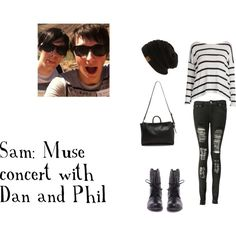 """""""Dan and Phil Muse Concert"""" by llamarider on Polyvore"""