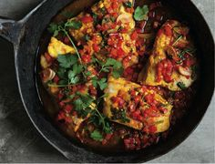 Moroccan Fish and Crispy Rice Cake with Saffron Crust | The Nosher
