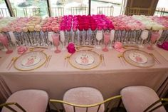 La Tavola Fine Linen Rental: Velvet Pink | Production: Center Club Orange County, Florist: Paul Fenner, Tabletop: Casa de Perrin, Rentals: Above The Top and Bright Event Rentals