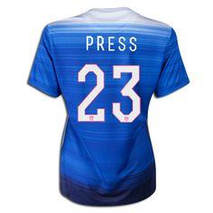 2015 FIFA Women's World Cup USA Christen Press 23 Women Away Soccer Jersey