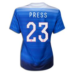 2015 FIFA Women's World Cup USA Christen Press 23 Women Away Soccer Jersey
