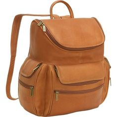 Le Donne Leather Zip Around Backpack/Purse Red - Le Donne Leather ...