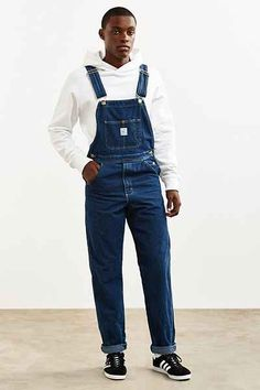 Pointer Brand Tapered Washed Denim Overall