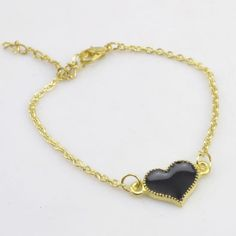 Beautiful Gold Plated Cute Heart Bracelet Love Gift For Women Mix Color