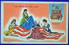 USA - PATRIOTIC, THE BIRTH OF OUR FLAG, PA