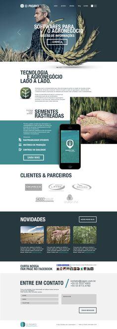 NANO Designer & Art Director Web Design interface - O Agro