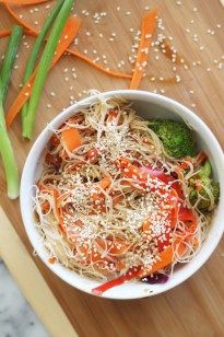 Pad Thai with a Ginger Soy Sauce | Danielle's Kitchen