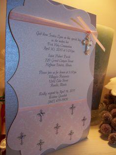 Baptism invitation - I have little crosses like those I can use, too. :)