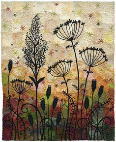 Seedpods 7 (by Kirsten's Fabric Art)