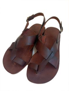 New.....GENUINE LEATHER Handmade Sandals for men por BODRUMSANDALS, $90.00