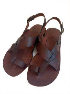 New.....GENUINE LEATHER Handmade Sandals for men por BODRUMSANDALS, $90.00