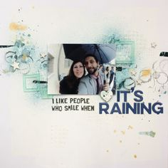 Layout Mixed Media It's Raining | Xènia Crafts