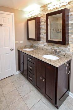 Shaker Cabinets in Stock Espresso Birch Wood Bathroom Vanity -