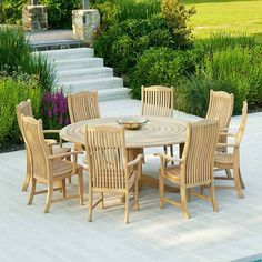 The Roble 8 Seater High Back Dining Set allows you to relax in great style, enjoying superbly designed outdoor furniture that's hand crafted from top quality roble which is known for its colour and durability. Garden Furniture Sets, Outdoor Garden Furniture, Outdoor Furniture Covers, Furniture Ideas, Outdoor Seating, Outdoor Dining, Outdoor Decor, Pedestal, Garden Dining Set