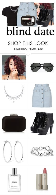 """""""Blind Date Contest"""" by anna-bigsis ❤ liked on Polyvore featuring Getting Back To Square One, Yves Saint Laurent, MINKPINK, Jimmy Choo, Jennifer Fisher, David Yurman, philosophy, Ilia and blinddate"""