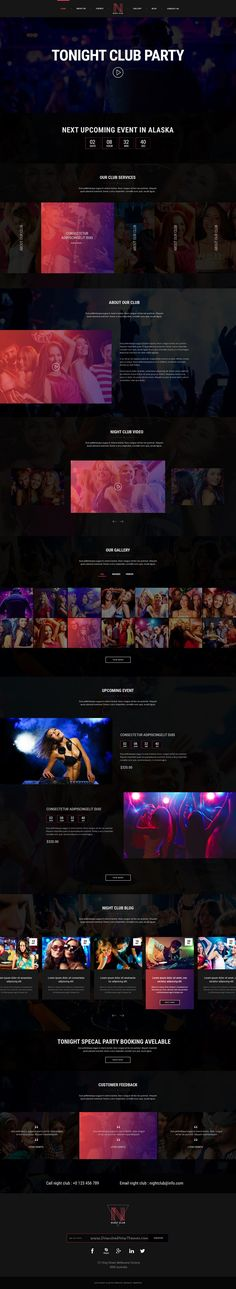 Night Club is awesome #PSD #Template For #Band, Pub, #Club, #Dance, Digital Studio, Adult Content, Music or Video Gallery website download now➩ https://themeforest.net/item/night-club-event-dj-party-music-club-psd-template/17387119?ref=Datasata