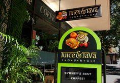 Australian Sign & Graphics Association: 3rd place - Carving & Sculpture (2006) - Juice & Java Lounge - Designer: Geordie McKernann   Danthonia Designs