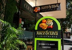 Australian Sign & Graphics Association: 3rd place - Carving & Sculpture (2006) - Juice & Java Lounge - Designer: Geordie McKernann | Danthonia Designs