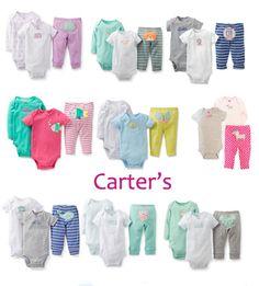 Barato Carters Original Baby Boy , Bebê recém nascido 100% terno de algodão…