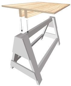 sawhorse: #WoodworkingTools #woodworkingtable #woodworkingtips