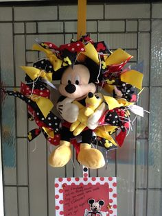 Home made Mickey wreath.