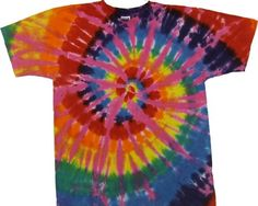 5ab359bfbdd50b Tie Dyed Shop Rainbow Pink Spiral Tie Dye T Shirt-Large-Multicolored Tie  Dyed