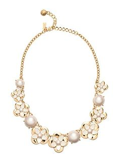 Perfect topper for a Southern Belle. window seat bouquet small necklace - kate spade new york Modern Jewelry, Fine Jewelry, Small Necklace, Jewelry Necklaces, Kate Spade Necklace, Latest Jewellery, Collar Necklace, Bling, Pearls