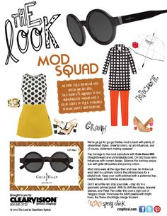 Ladies, Mod is back! Pay homage to the mod subculture with Cole Haan 692 shades