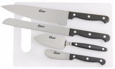 Kitchen Cutting Board Spreader, Spatula, Serrated Knife, Chef's Knife Set (5 PC) #Clauss