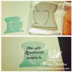 nice people STAMP!: Undefined Kitchen Mixer Hand Carved Stamp by Allison Okamitsu #StampinUp #Undefined