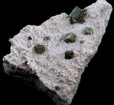 Pyrite Crystals on Matrix