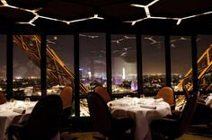 Restaurant le Jules Verne - Tour Eiffel Paris - I love Paris, food, and Jules Verne.  My heart yearns to go here... you get free admission to le Tour with your meal :)  Or so I've heard :/