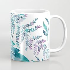 Teal manic botanic Coffee Mug