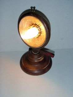 upcycled vintage headlight desk lamp
