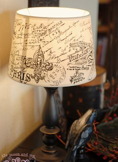 The Moon and Me: DIY French Script Lampshade Copycat