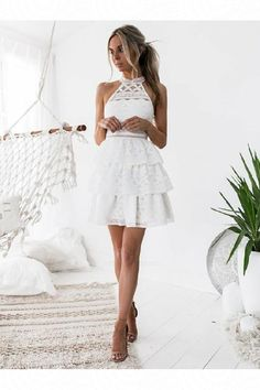 Lace White Homecoming Dresses, A-Line Party Dress, Homecoming Dresses White, Lace Homecoming Dresses Homecoming Dresses 2018 Next Dresses, Lace Party Dresses, Cute Dresses, Evening Dresses, Short Dresses, Dress Lace, Dress Party, Party Wear, White Homecoming Dresses