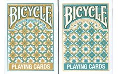 Bicycle Madison Playing Cards 2 deck Set 1 Gold & 1 Teal. #playingcards #poker #games #magic
