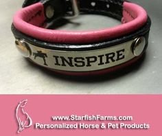 From MY WORKBENCH: PADDED LEATHER BRACELET  Shown with optional graphic. www.StarfishFarms.com Take 5% off with coupon FB2015!