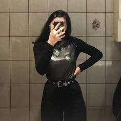 E girl silver chains Black hair new Instagram