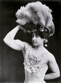 Laverie Vallee née Cooper, best known by her stage name Charmion, was an American vaudeville trapeze artist and strongwoman.