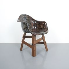Eames Appropriation Dining Armchair with Polished Resin Leopard Seat Dining Arm Chair, Dining Table, Charles Eames, Wicker, Modern Design, Armchair, Resin, Contemporary, Paradise