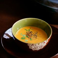 A delicious fall Pumpkin Soup with tons of flavor