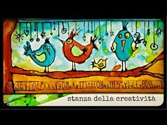 Art journal - Ecoline watercolors: watercolors tutorial four little birds - YouTube
